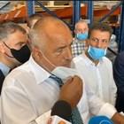 Борисов е придружаван от финансовия министър Владислав Горанов, двамата бяха посрещнати от кмета на града Тодор Попов. Кадър и видео Фейсбук/Бойко Борисов