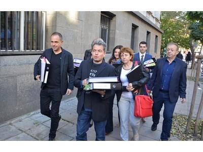 """Тошко Йорданов Хаджитодоров (на преден план) ще води листата на """"Има такъв народ"""" в Пловдив"""