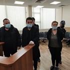 Минду и Катя Симеонова в съда.