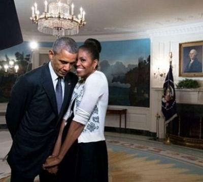 Барак и Мишел Обама СНИМКА: туитър