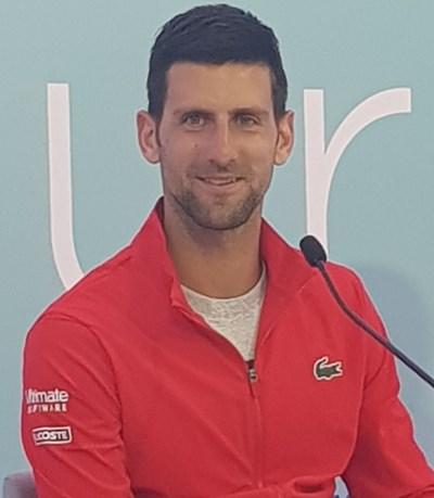 """Новак Джокович в """"Новак Тенис Център"""" в Белград. СНИМКА: НАЙДЕН ТОДОРОВ"""
