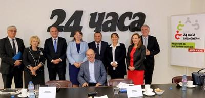 """9 министри взеха участие в дебата на """"24 часа"""" за достойни пенсии. СНИМКА: Румяна Тонева"""