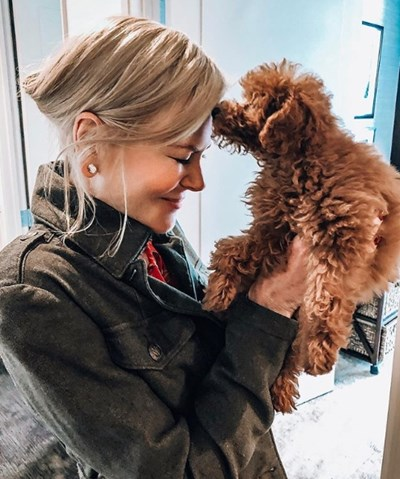 Никол Кидман и новото й кученце Снимка: Инстаграм