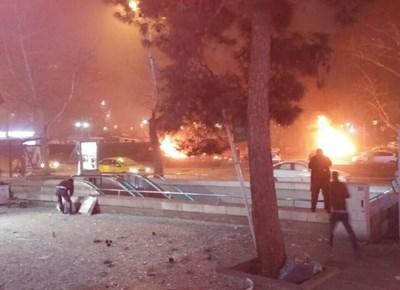 Взривът в Анкара СНИМКИ: Туитър