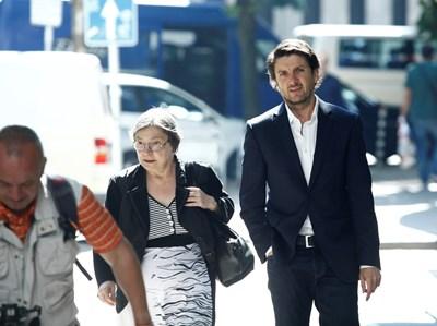 Мирослав Боршош с адвоката си Даниела Доковска СНИМКА: Йордан Симeонов