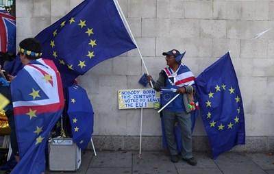 Кадър от демонстрация срещу Брекзит в Лондон Снимка: Ройтерс