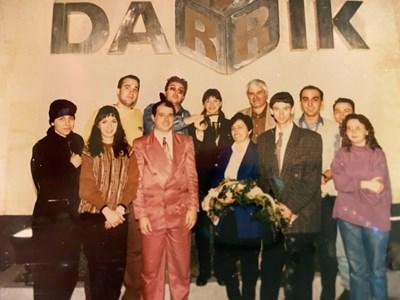 Журналистите в студиото на Дарик с току-що казналата от Нагано първа българска шампионка от зимни олимпийски игри Екатерина Дафовска.