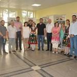 """Кметът на община """"Родопи"""" Павел Михайлов приветства присъстващите на съботието."""
