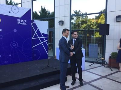 Заместник-министърът на икономиката Лъчезар Борисов (вдясно). Снимка: Министерство на икономиката