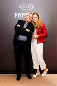 Менцел и съпругата му Олга