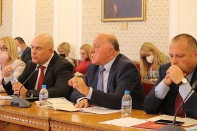 Представляващият ВСС Боян Магдалинчев и главният прокурор Иван Гешев