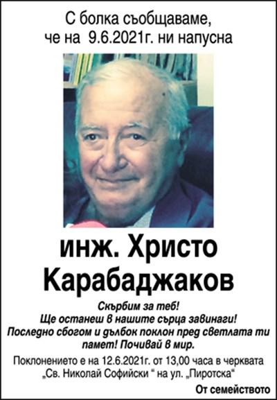 инж. Христо Карабаджаков