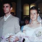 Спаска Митрова на сватбата си с Воислав през 2006 г.