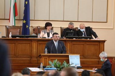Младен Маринов пред депутатите СНИМКА: Николай Литов