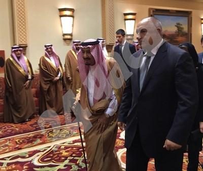 Салман бин Абдул Азиз Ал Сауд и Бойко Борисов в Рияд СНИМКИ: Георги Милков СНИМКА: 24 часа