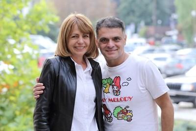 Йорданка Фандъкова и Васко Василев СНИМКА: ПП ГЕРБ