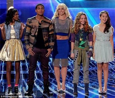 """Бритни Спиърс на сцената на американското шоу """"Х фактор"""""""