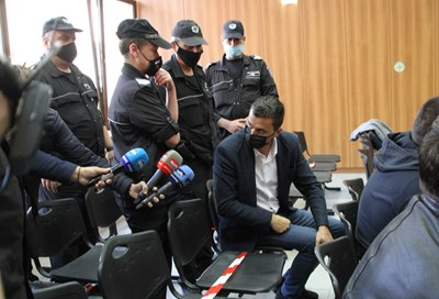 Самуил Хаджиев малко преди заседанието на съда  СНИМКА: Анелия Перчева