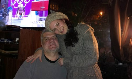 Иво Кръстев заедно с жена си Нина Янакиева.