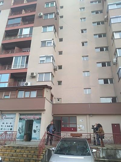 """Блокът в район """"Тракия"""", където е станало убийството СНИМКИ: Авторката"""