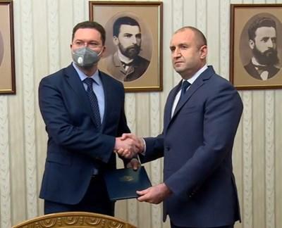 Даниел Митов и Румен Радев КАДЪР: Прессекретариат на държавния глава