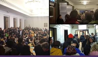 """Над 150 души присъстваха на обсъждането.  СНИМКА: """"СПАСИ СОФИЯ"""""""
