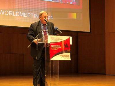 Генералният директор на БТА Максим Минчев открива 15-ата Световна среща на българските журналисти.