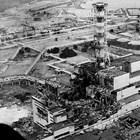 Чернобилската електроцентрала след взрива