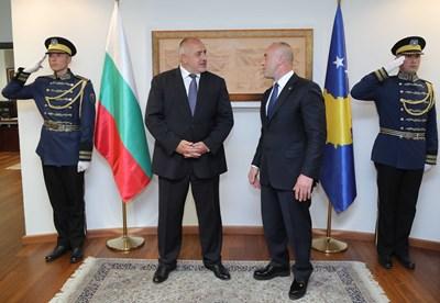 Министър-председателите на България и Косово Бойко Борисов и Рамуш Харадинай  Снимки: Министерски съвет