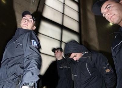 Петър Костов при ареста си от 2013 г., когато е подготвял отвличане на син на бизнесмен от Перник.