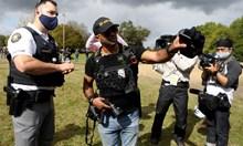 """Привърженици на крайнодясната група """"Прауд бойс"""" на протест в Америка"""