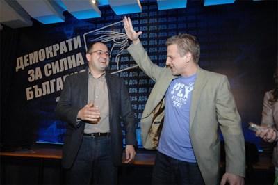 Петър Москов (вдясно) Снимка Архив