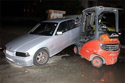 ММА-боецът подлуди вчера полицията в Бургас. Той открадна мотокара и предизвика 2 последователни катастрофи / Снимки: МВР