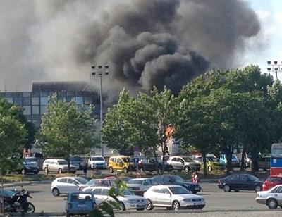 18 юли, 2012 г. - така изглежда летището  в Бургас. Снимка:Елена Фотева
