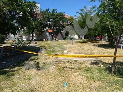 """В тази градинка в квартал """"Зъбчето"""" е станал инцидента СНИМКИ: Анелия Перчева СНИМКА: 24 часа"""