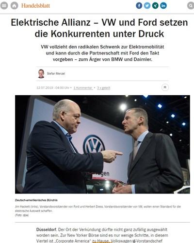 Факсимиле: Handelsblatt