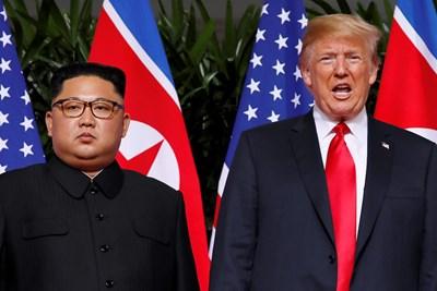 Доналд Тръмп и Ким Чен Ун Снимка: Ройтерс
