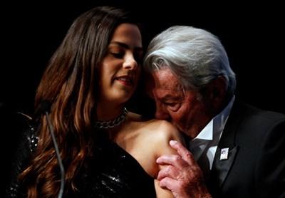 Ален Делон с дъщеря си Анушка Делон СНИМКИ: Ройтерс