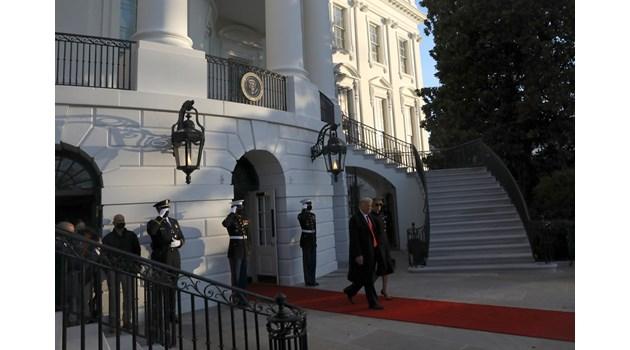 Вижте как Тръмп напусна Белия дом