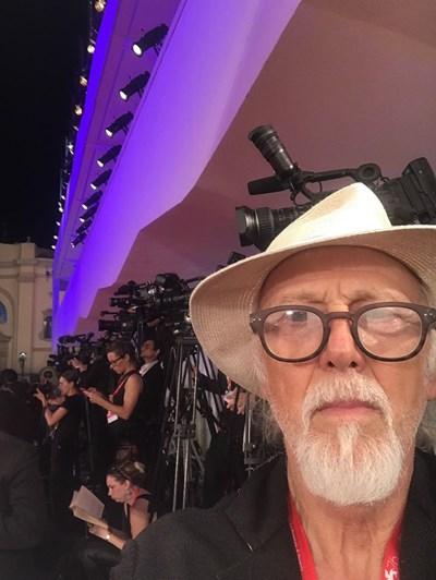 Иван Яхнаджиев на кинофестивала във Венеция  СНИМКА: ЛИЧЕН АРХИВ