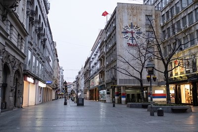 Кадър от Белград Снимка: Ройтерс