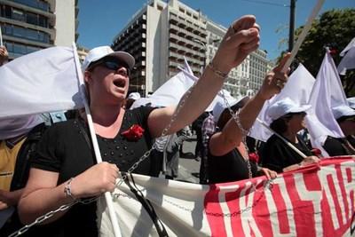 Стачките в Гърция продължават.  СНИМКА: АРХИВ