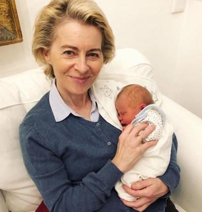 Урсула фон ден Лайен стана баба за първи път