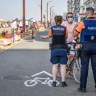 Няколко души са били арестувани вчера по време на безредици, предизвикани от заповед за евакуация на плаж в белгийския морски курорт Бланкенберге. Снимка: Belga
