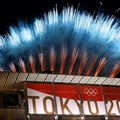 Част от ефектната церемония по закриването на игрите.