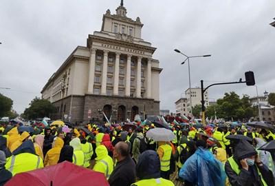 Протеста на пътищарите Снимки: Йордан Симеонов