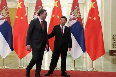 Александър Вучич и Си Цзинпин Снимка: Ройтерс