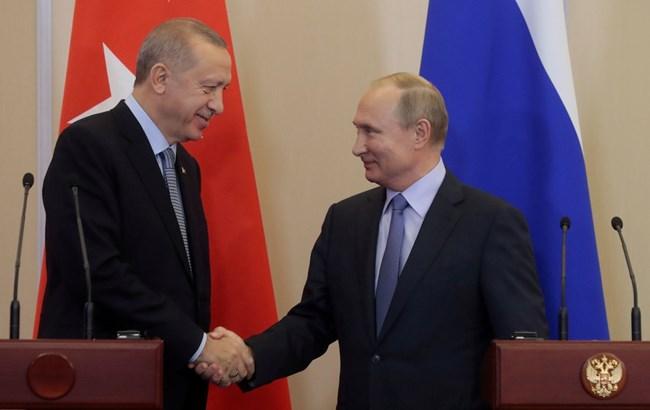 Реджеп Тайип Ердоган и Владимир Путин