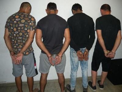 Част от задържаните при спецакцията в Бургас