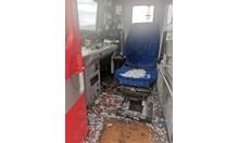 Неизвестно говедо е разбило предното стъкло на движещ се бърз влак. Ранени са машинистът и неговият помощник!